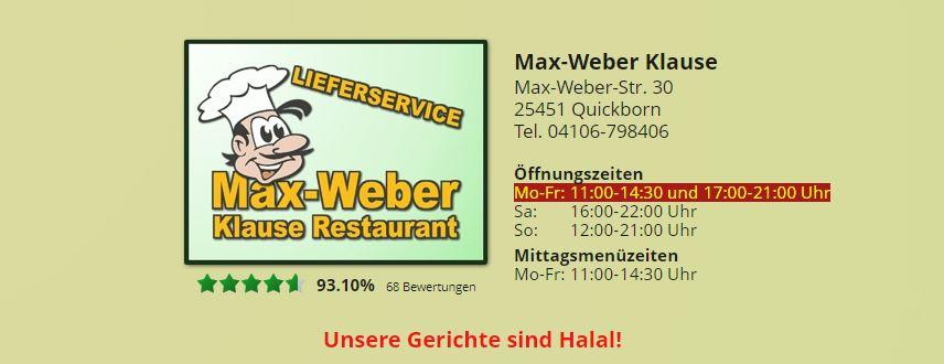 Max Weber Klause